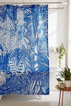 Saskia Pomeroy - Rideau de douche motif plantes