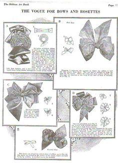 1920s bows. #1920s #bows #DIY