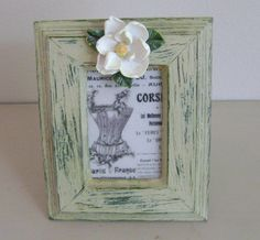 Shabby Chic French Corset Frame by BellasChicCollezione on Etsy, $12.00