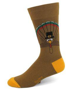 Absolute Socks - Thanksgiving Turkey Socks, $8.50 (http://www.absolutesocks.com/thanksgiving-turkey-socks/)