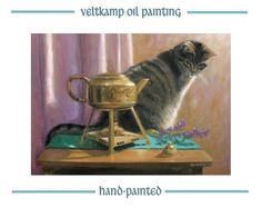 no shipping costs  animal oil paintingtea by VeltkampOilPainting