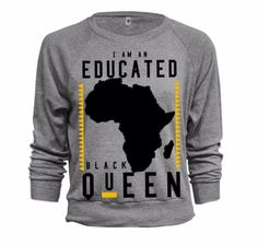 EDUCATED BLACK QUEEN™ women's grey sweatshirt