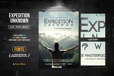 Expedition Unknown - Flyer/Poster by VectorMedia on @creativemarket