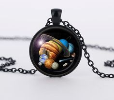2017 New Rushed Collares Collier Solar System Pendant Astronomy Space Jewelry Galaxy Necklace Planet Pendants Gifts Men WomenHZ1 #Affiliate