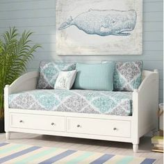 Full Size Daybed With Storage Drawers - Foter Full Size Daybed, Twin Daybed With Trundle, Girls Daybed, Daybed With Drawers, Girl Room, Girls Bedroom, Bedroom Decor, Bedrooms, Daybed Room