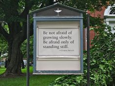 would love to replicate large signs throughout the grounds with these exact sayings.