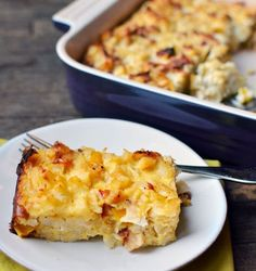 This is the perfect breakfast & brunch casserole recipe. Filled with bacon, potato, and egg, it checks every box of breakfast favorites. It's one of the easiest, most simple hearty casseroles to make. It can also be made ahead of time.