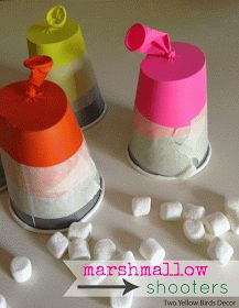 Marshmallow Shooters. I think even my older kids will love this. Can even use inside on a rainy day.