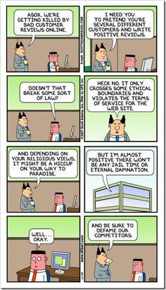 Dilbert: e-reputation