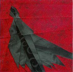 Dementor Paper Pieced Block free pattern on Fandom in Stitches at http://www.fandominstitches.com/2011/05/harry-potter.html