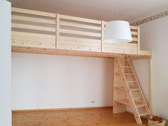 Kids Bedroom, Bedroom Decor, Attic Bedrooms, Bedroom Loft, Small Hall, Deco Studio, Loft Stairs, Small Loft, Aesthetic Bedroom