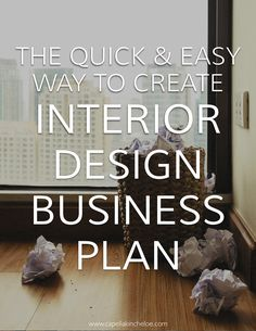 interior design business plans don't have to be boring multi-page ordeals. You can create one that fits your creative business quickly and easily with the included interior design business plan worksheet.