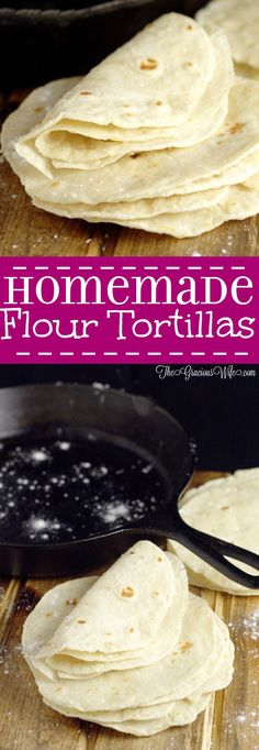 Homemade flour tortillas - frugal and way more delicious than store-bought tortillas. Warm, soft tortillas perfect for your next taco or burrito dinner night.  | cooking tips