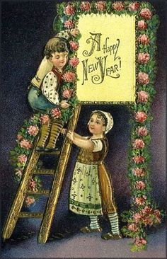 A very happy New Year to you! #vintage #cards #holidays #New_Years