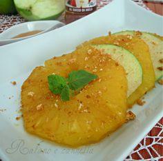 Ananas caramellato con glassa alla mela