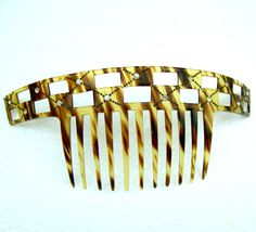 Art Deco faux tortoiseshell hair comb headdress headpiece hair accessory decorative comb