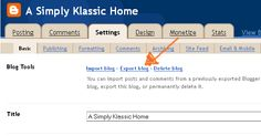 Simply Klassic Home: BACK UP YOUR BLOG - NOW!!!