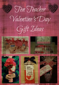 I can't believe that Valentine's Day is next week!  I really need to get moving with gift ideas for the kid's teachers.  Thank goodness for Pinterest and