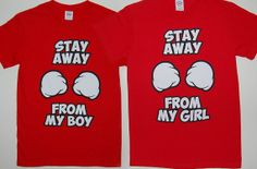 Couples Matching Stay Away Adorable Shirts