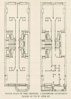 Creole townhouse floorplan american vernacular for Apartment floor plans new york city