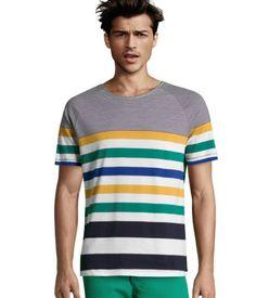 Striped jersey T-shirt.