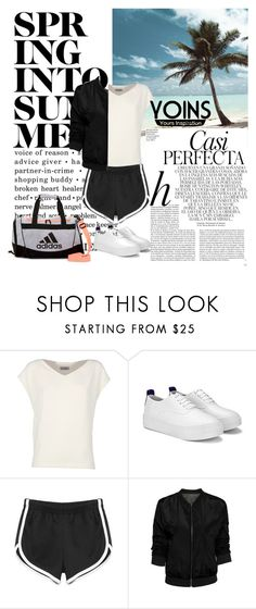 """Bez naslova #938"" by lifestyle-79 ❤ liked on Polyvore featuring Whiteley, Alberto Biani and adidas"