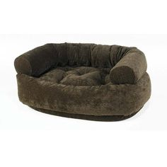 Diamond Microvelvet Double Donut Pet Bed - Chocolate Bones (X Large: 48 x 38 x 17 in.) >>> Find out more details by clicking the image : dog beds