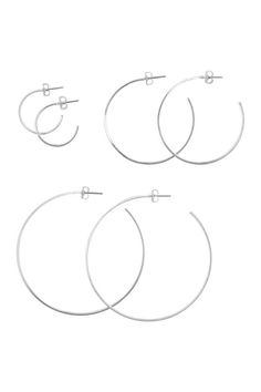 3 pares de pendientes de aro - Plateado - MUJER   H&M ES