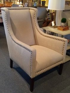ACQUISITIONS  Blalock Chair In Percival Pebble