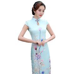 c7455239e Fasbys Fashion VintageTraditional Chinese Culture Clothing Women Silk Asian Long  Cheongsam Qipao Elegant Banquet Wedding Dresses