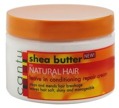 An intensive deep penetrating leave in cream conditioning treatment that is made with 100 percent pure shea butter and other natural oil. When used daily, it helps promote strong, long healthy hair. Natural Hair Cream, Cantu Shea Butter For Natural Hair, Natural Hair Twa, Natural Coconut Oil, Natural Hair Styles, Natural Oil, Natural Makeup, Coconut Oil Hair Treatment, Coconut Oil Hair Growth