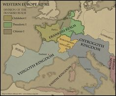 Frankish Kingdom and Western Europe c. 511 AD