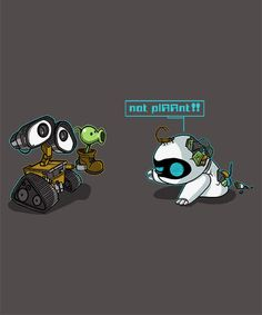 I have no WALL-E shirts. I have no Plants vs. Zombies shirts. How is this possible? @Qwertee today.