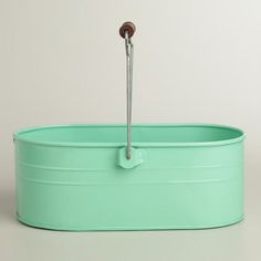 Mint Housekeeping Utility Bucket  at Cost Plus World Market >> #WorldMarket Laundry Organization Tips