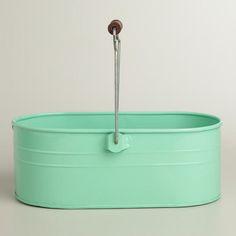Mint Housekeeping Utility Bucket  at Cost Plus World Market >> #WorldMarket Laundry Organization Tips