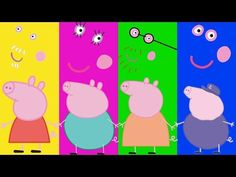 Wrong Heads For Kids Wrong Faces Peppa Pig Full Episodes Family Song Nursery Rhymes Kids Hangout - YouTube