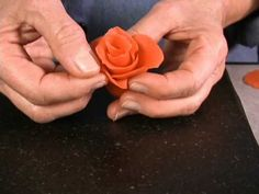 How to make and easy Marzipan Rose