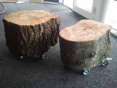 Mooie boomstammen op wielen