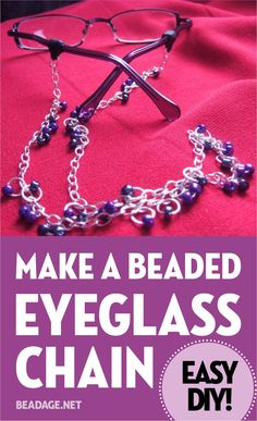 Jewelry Making For Beginners This is an easy and useful DIY jewelry project that will jazz up your glasses while keeping them from getting lost. Diy Jewelry Projects, Jewelry Ideas, Jewelry Design, Diy Projects, Make Your Own Jewelry, Jewelry Making, Diy Necklace Holder, Diy Glasses, Beaded Lanyards