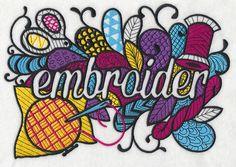 Crafty Embroider (Blackwork) design (K9559) from www.Emblibrary.com