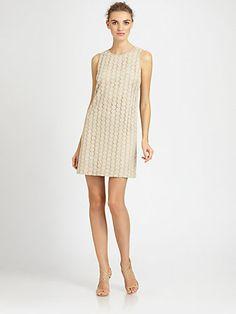 Badgley Mischka - Lace Dress - Saks.com $355