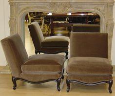 Pair Ralph Lauren Rue Royale Slipper Chairs