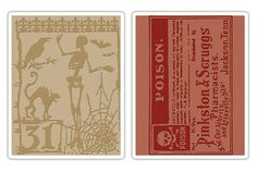 Sizzix - Tim Holtz- Texture Fades - Alterations Collection - Embossing Folders - Halloween Night and Poison at Scrapbook.com $9.34
