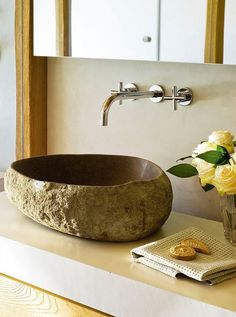 Stone basin - can get these from Nob Creek Pottery, Byfield