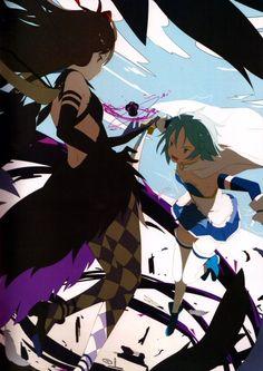 Devil Homura and Sayaka fanart.