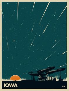 Sci-Fi Travel Posters of Where You Wish You Were for the Holidays.