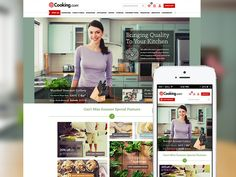 Cooking.com Responsive Redesign by Jason Kirtley