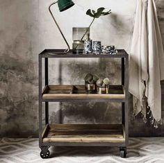 Industrial Iron Shelving | Industrial Trolley | Design Vintage