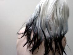 grey to black ombre hair