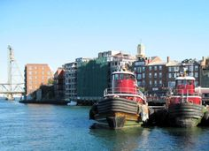 Love our waterfront in downtown Portsmouth NH - these are our famous Moran tugs that work the port traffic    www.NewHampshireMaineRealEstate.com